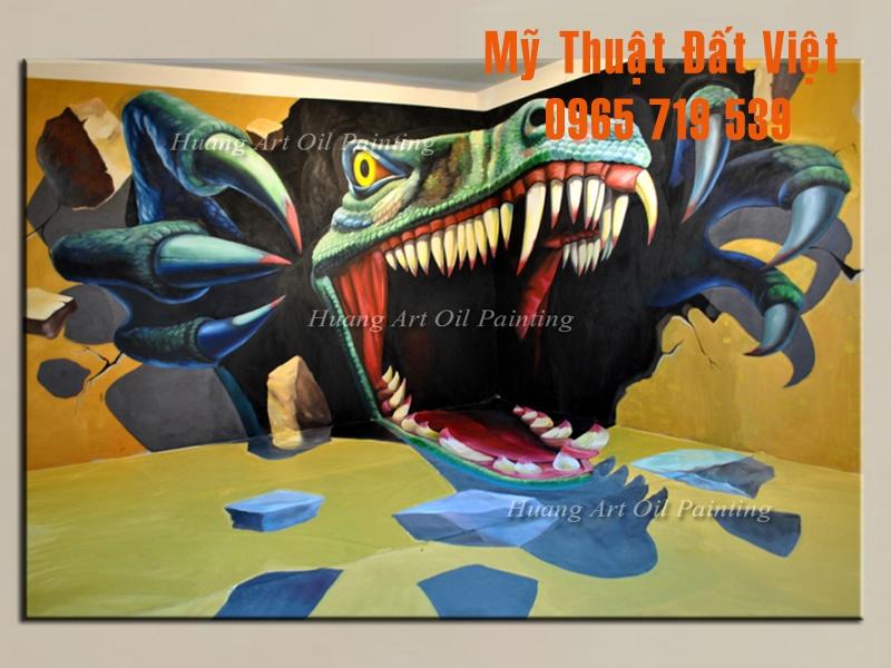 Mẫu tranh tường 3d hiện đại 10