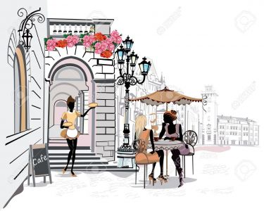 Mẫu tranh trang trí quán cafe 11