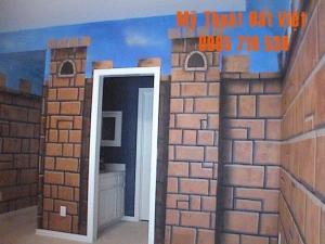 Mẫu tranh tường 3d hiện đại 12