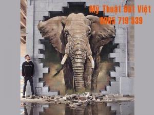 Mẫu tranh tường 3d hiện đại 14