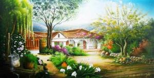 Mẫu - vẽ tranh tường phong cảnh - phòng khách 01