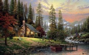 Mẫu - vẽ tranh tường phong cảnh - phòng khách 02