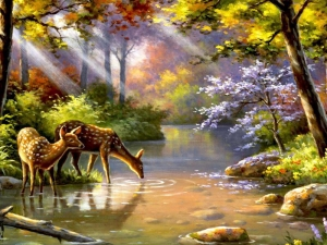 Mẫu - vẽ tranh tường phong cảnh - phòng khách 06