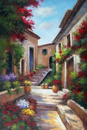 Mẫu - vẽ tranh tường phong cảnh - phòng khách 07