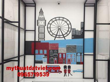 mẫu vẽ tranh tường quán trà sữa 03