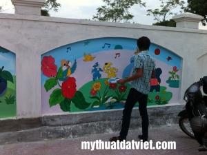 Vẽ Tranh Tường Mầm Non Đẹp