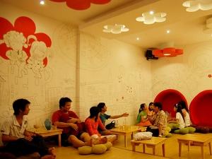 Tranh Quán caffe 01