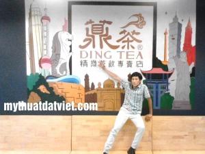 Tranh Quán Trà Sữa Dingtea