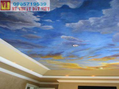Vẽ trần mây cổ điện
