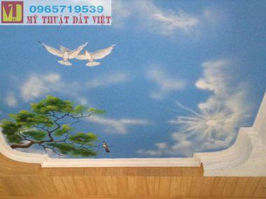 Vẽ trần mây đẹp 04