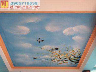 Vẽ trần mây đẹp 06