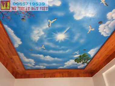 Vẽ trần mây đẹp 08