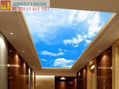Vẽ trần mây giá rẻ 03