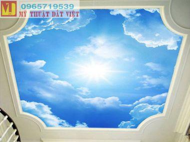 Vẽ trần mây Hà Nội giá rẻ 02