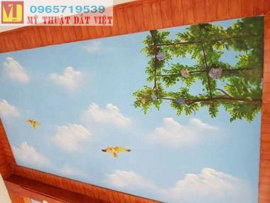 Vẽ trần mây Hà Nội giá rẻ 04