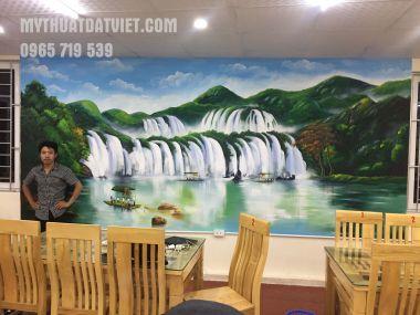 Vẽtranh tường siêurẻ tại nhà hàng Văn Quán, Hà Đồng