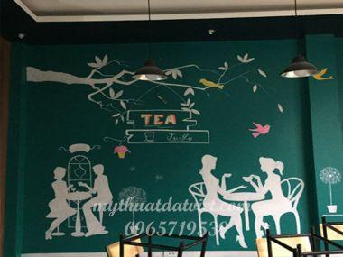VẼ TRANH TƯỜNG 3D QUÁN CAFE - 86 CHƯƠNG DƯƠNG ĐỘ- HOÀN KIẾM - HÀ NỘI