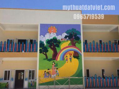 Vẽ tranh tường mầm non tại Thị xã hoàng mai, quỳnh lưu, nghệ an