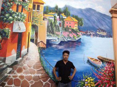 Vẽ tranh tường phòng khách - 09 Nguyễn Hoàng - Quận Bắc Từ Liêm