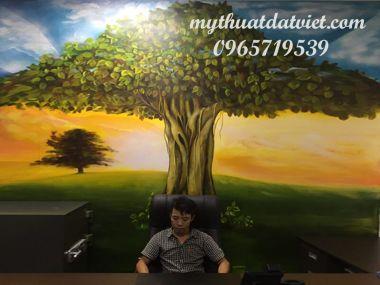 vẽ tranh tường phòng Làm việc 44 Tràng Tiền- Hoàn Kiếm-Hà Nội
