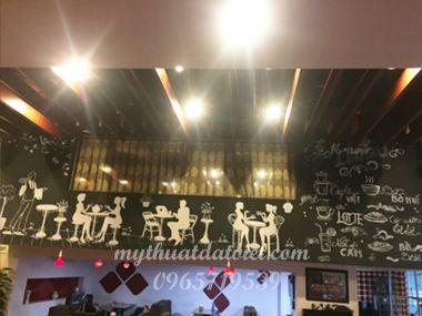 VẼ TRANH TƯỜNG QUÁN CAFÉ TẠI 83 TÂY SƠN, ĐỐNG ĐA, HÀ NỘI