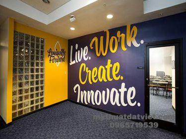 Vẽ tranh tường văn phòng công ty 02
