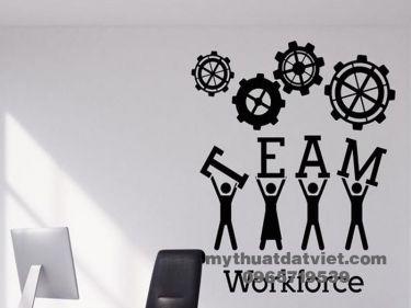 Vẽ tranh tường văn phòng công ty 08
