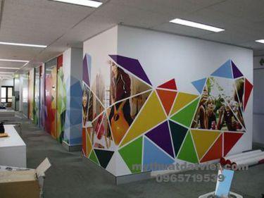 Vẽ tranh tường văn phòng công ty 11