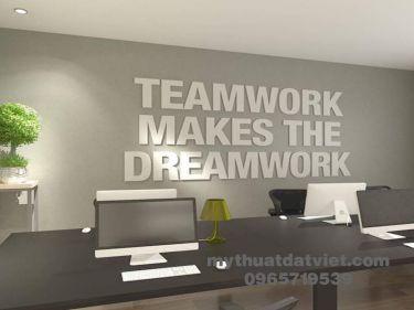 Vẽ tranh tường văn phòng công ty 13