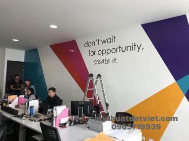 Vẽ tranh tường văn phòng công ty 14