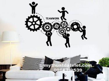 Vẽ tranh tường văn phòng công ty 16